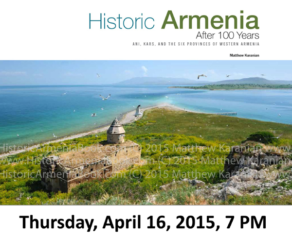 Flyer for April 16, 2015 Historic Armenia