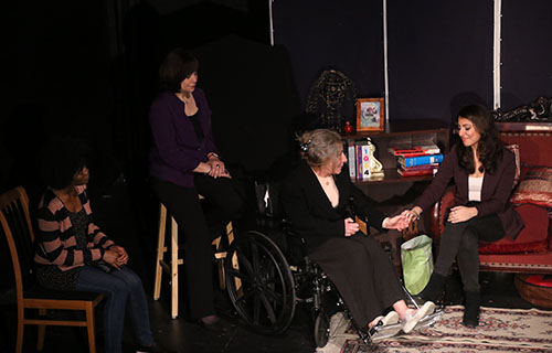 Aghavni (played by Constance Cooper) shares her story of survival after a century with daughter Nina (played by Nora Armani), Sudanese genocide survivor Ayesha (played by Jamie Alana) and granddaughter Areni (played by Ani Djirdjirian)