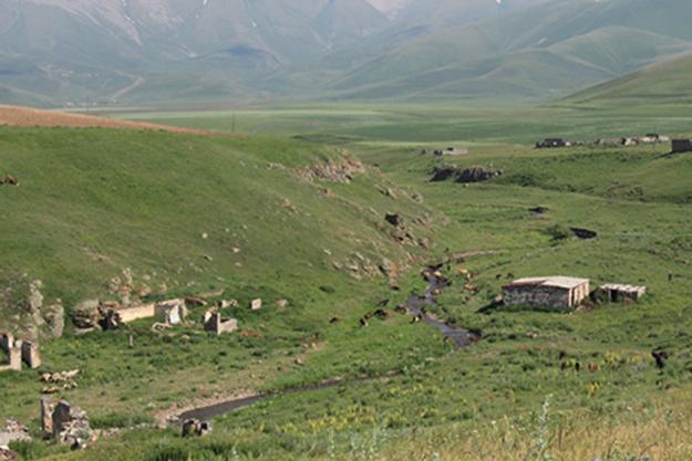 Part of Verin Shorzha in valley