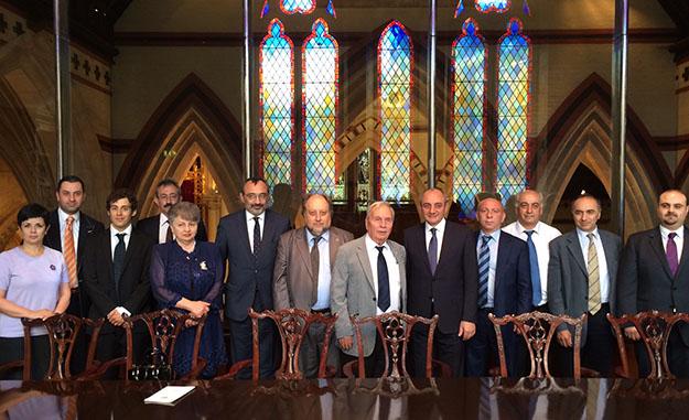 S.D.Hunchakian Party of GB & Nor Serount Cultural Association representatives with President Bako Sahakian