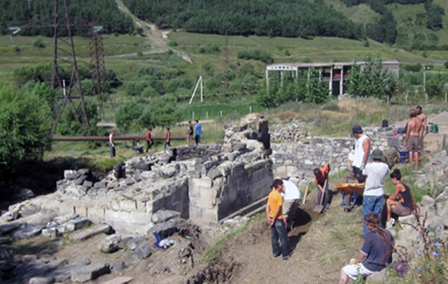 Tchkhanavank Monastery During Renovation