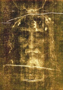 The Shroud of Turin, purported to be a burial shroud bearing an image of Christ's human face. The ancient theological question of Christ's human and divine nature was addressed during a recent meeting of the Anglican and Oriental Orthodox churches.