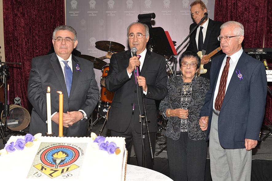 Arsen Danielian, Tomik Alexanian, Mrs. Ludovica and Dr. Agop Aintablian