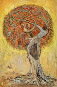 Kristin Saleri Oil Painting - tree of life
