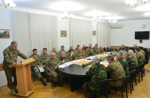Presidents Sarkisian and Sahakian hold consultations with supreme command staff of the Defense Army