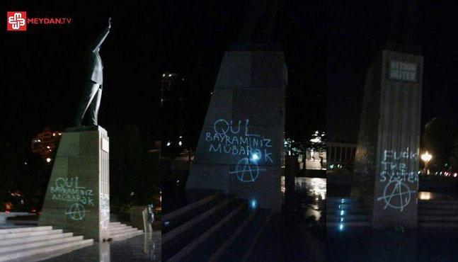 Aliyev-statue