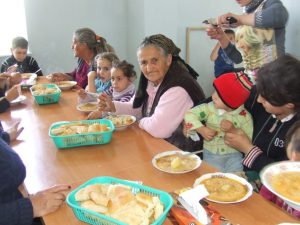 Martakert Evacuess having their lunch at Camp Bedrosian in Shushi 5